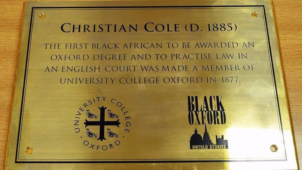 Plaque to Christian Cole