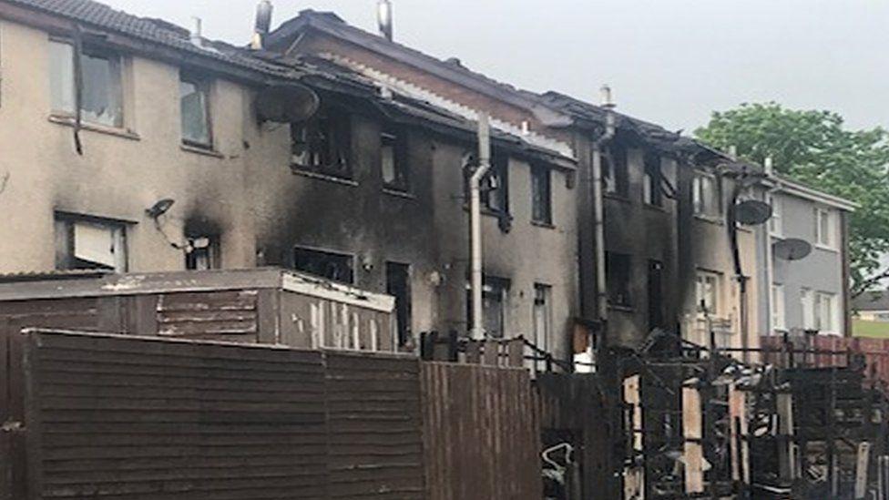 Houses damaged in fire in Newtownabbey