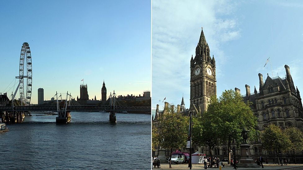 London and Manchester