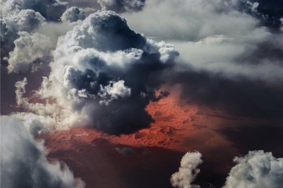 Clouds over the Sahara desert