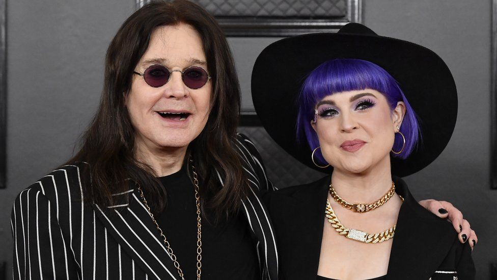 Ozzy and daughter Kelly Osbourne walked the red carpet at the Grammys
