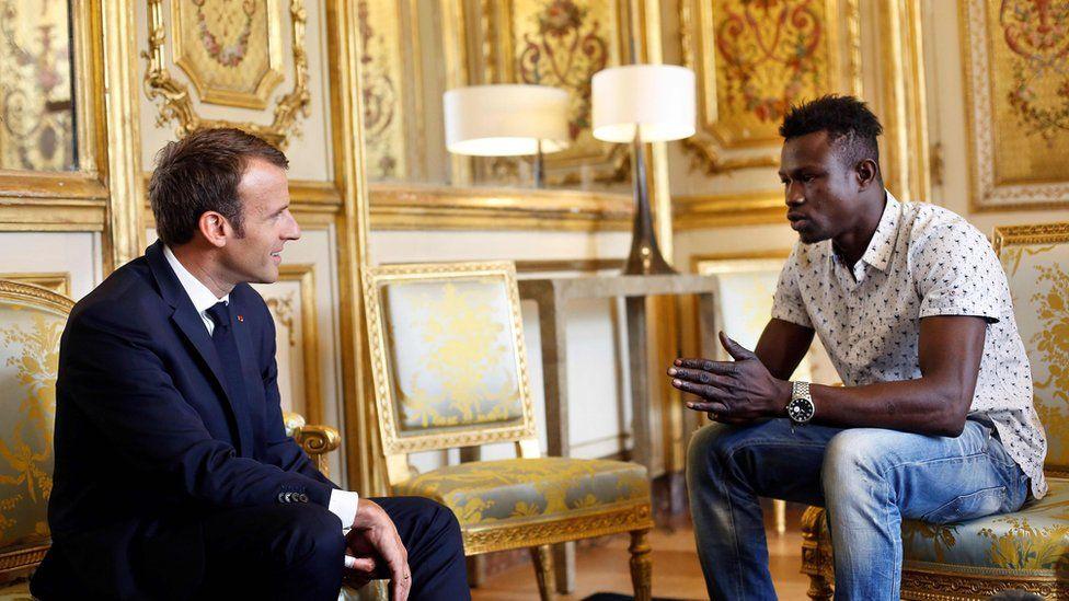 Macron thanks Gassama