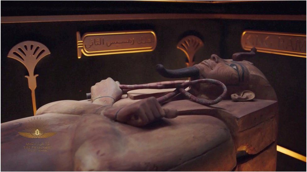 The mummy of King Ramses II was among those to be transported