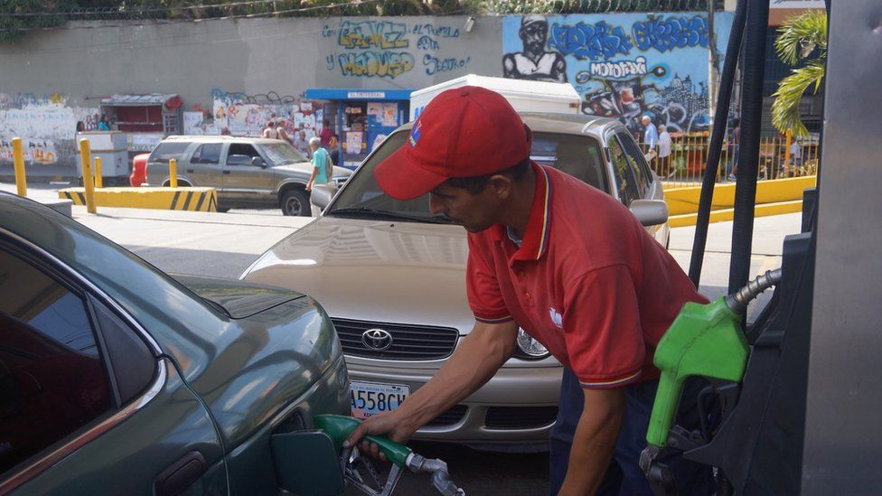 Petrol station in Caracas (February 2016)