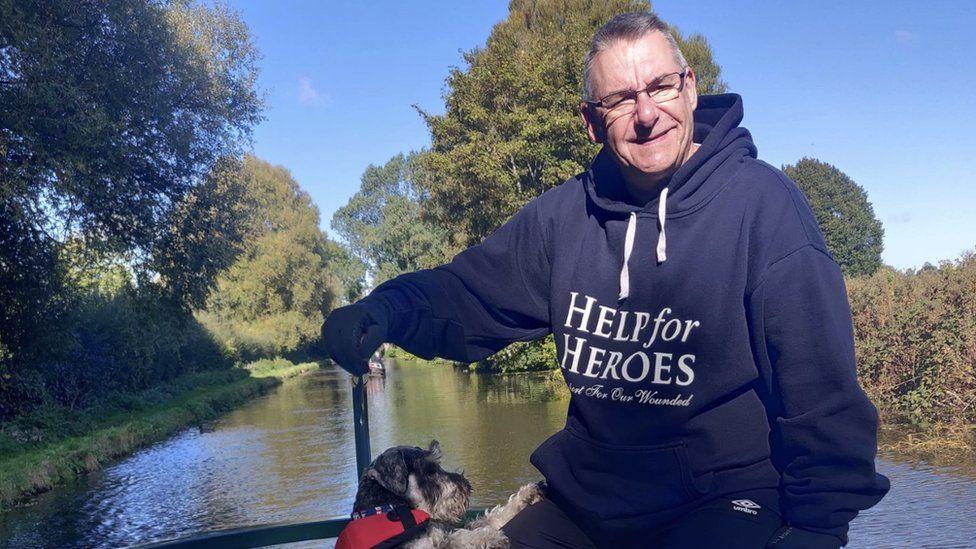 Adrian Ellis and his dog Charlie Bucket