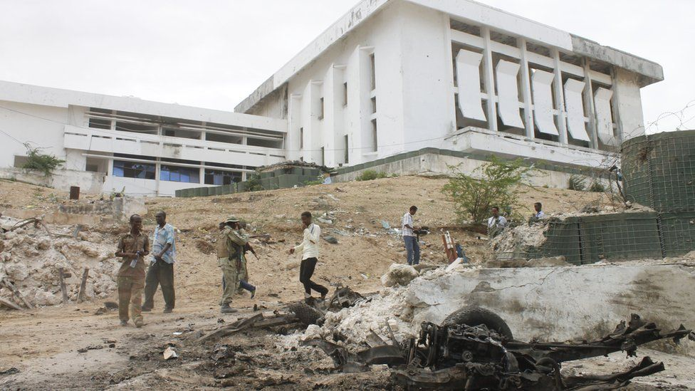 Somali Parliament during civil war