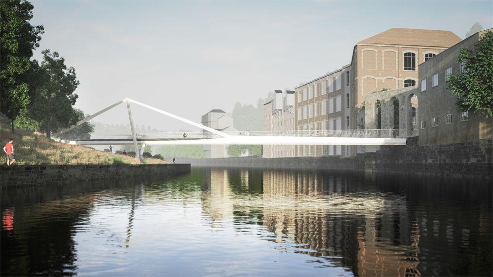 Bath Quays Bridge design