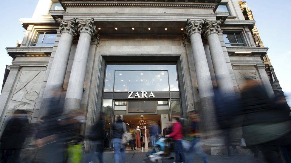 A Zara store in Barcelona