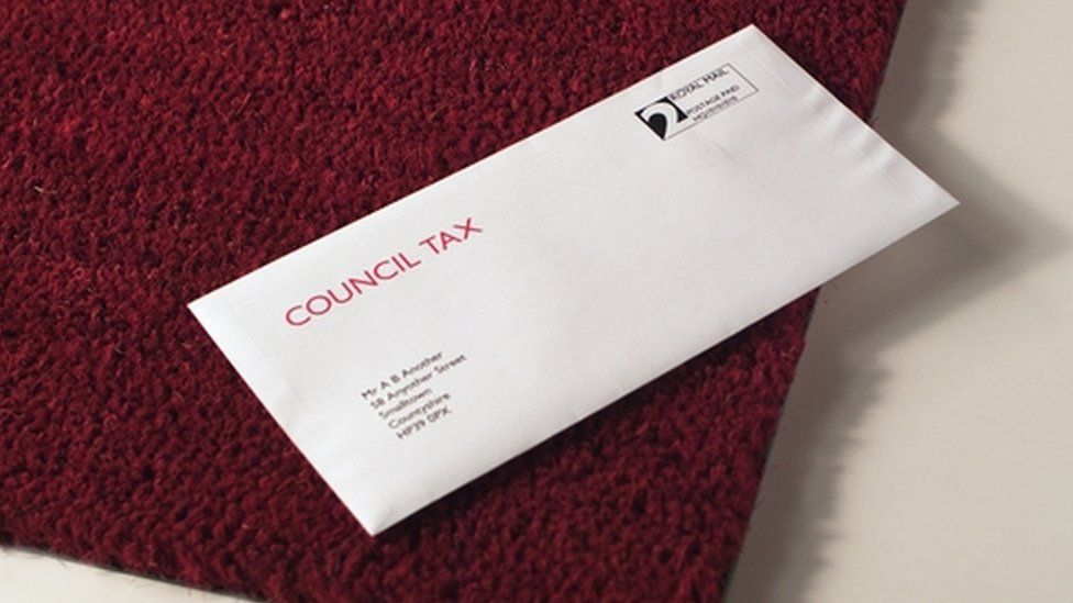 Council tax demand (schematic illustration)