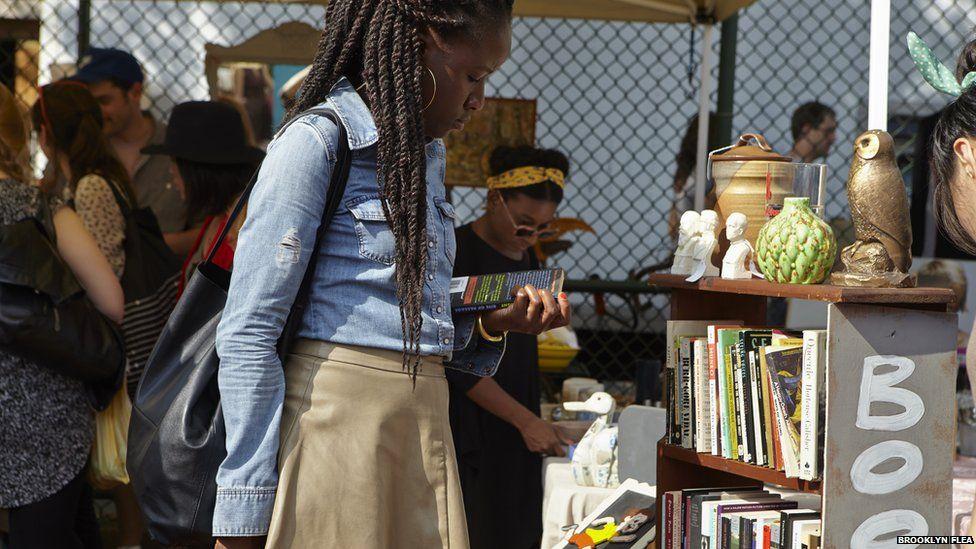 Women at flea market