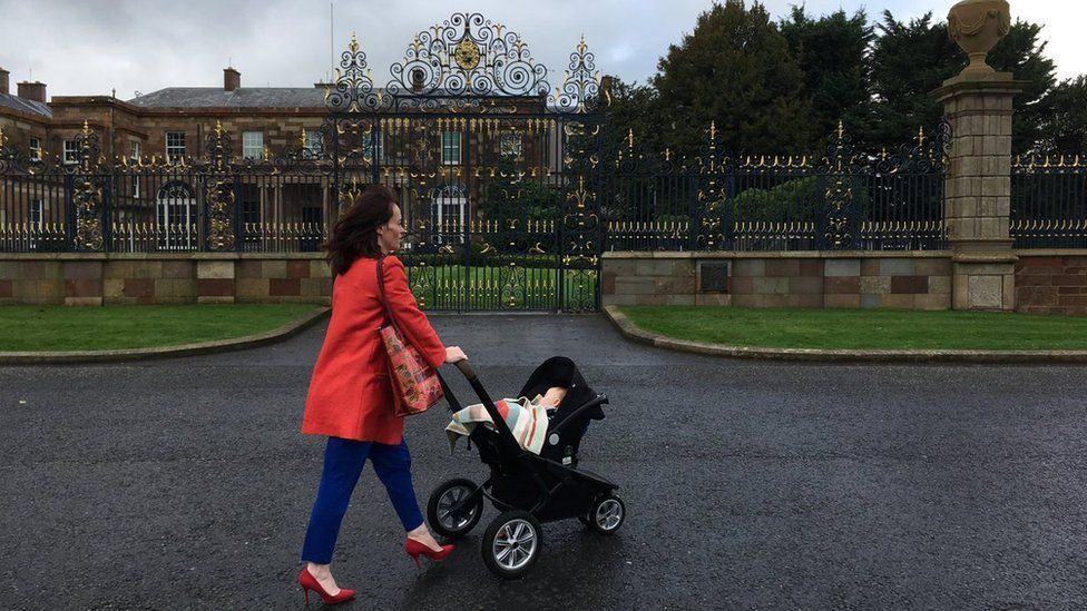 Nichola Mallon brought her baby into political talks at Hillsborough Castle