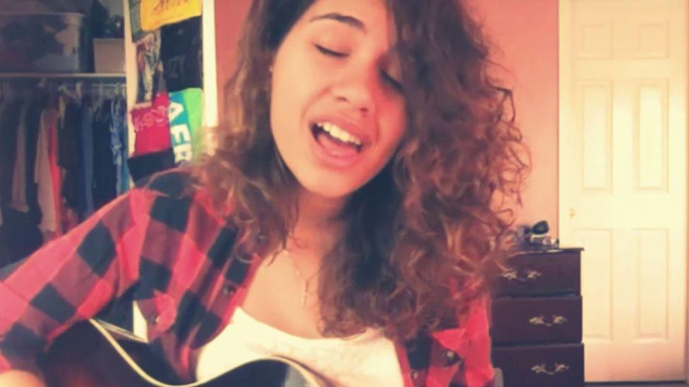 Alessia Cara singing on YouTube