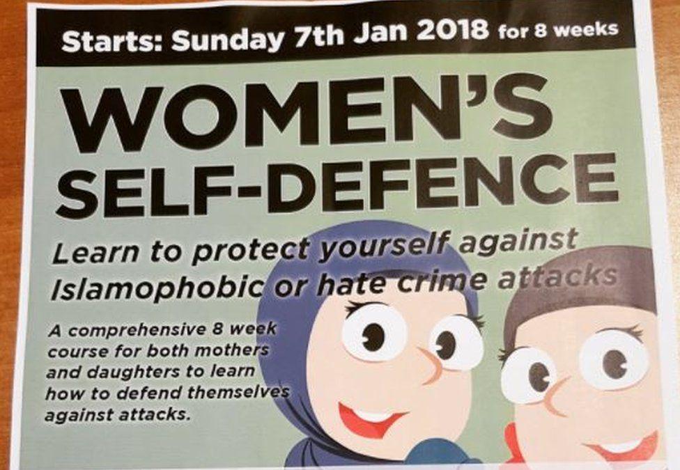 Leaflet for self defence classes