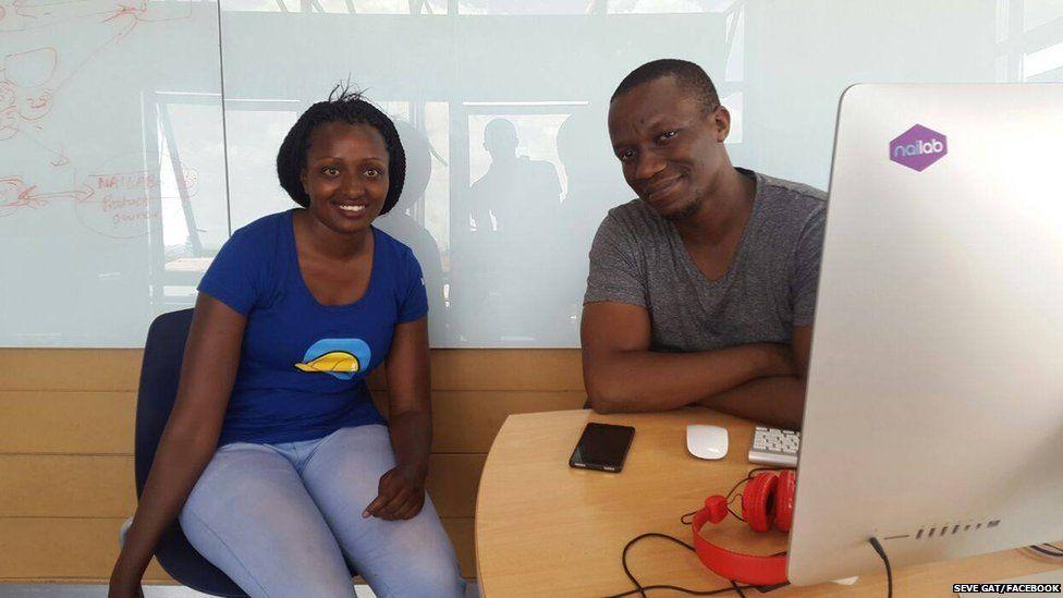 Seve Gat with Sam Gichuru