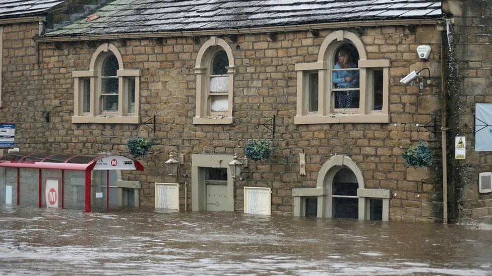 Fllooding at the Dusty Miller in Mytholmroyd