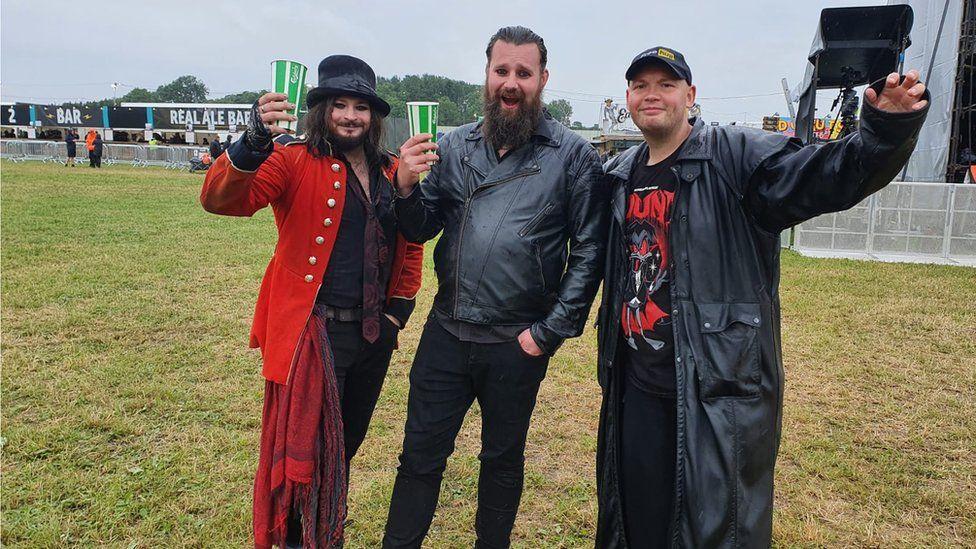 James, Luke and Jack at Download Festival 2021