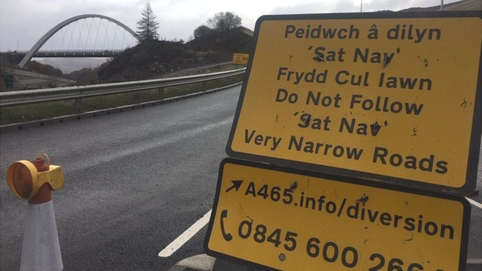 Heads of the Valleys road near Brynmawr roundabout