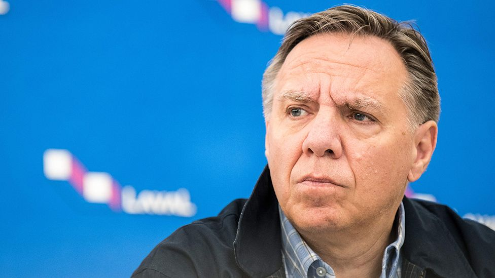 Quebec Premier Francois Legault, who has told federal leaders to stay out of the province's politics