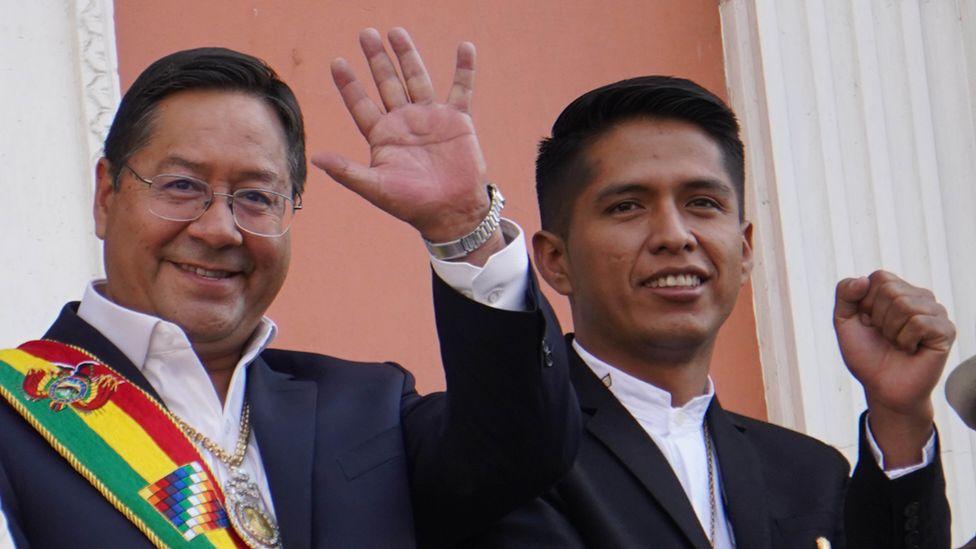 Bolivian President Luis Acre