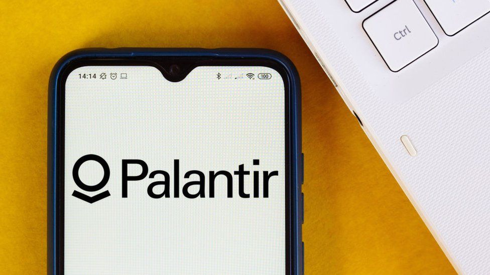 Palantir Technologies logo displayed on a smartphone