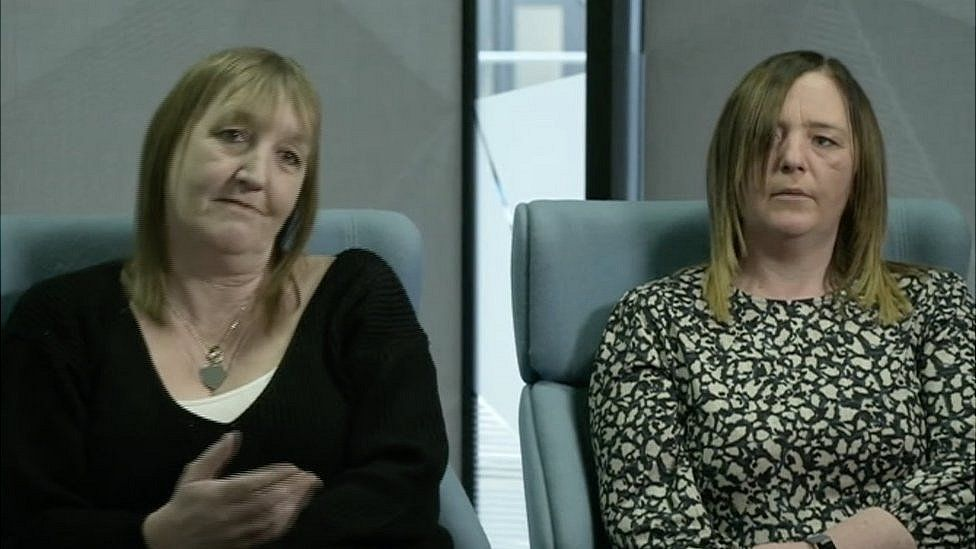 Mother Tricia Gerrard and sister Samantha Barnes