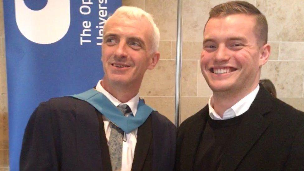 Reformed ex-prisoner John Crilly with Jack Merritt, the Cambridge University graduate killed in the London Bridge terror attack