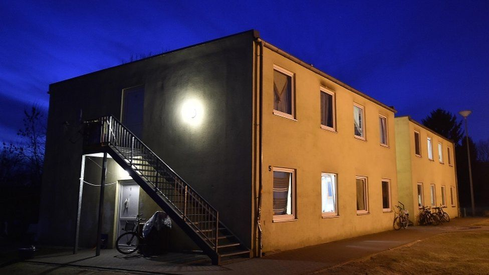 A migrant shelter is pictured in Kerpen, Germany, 18 January 2016
