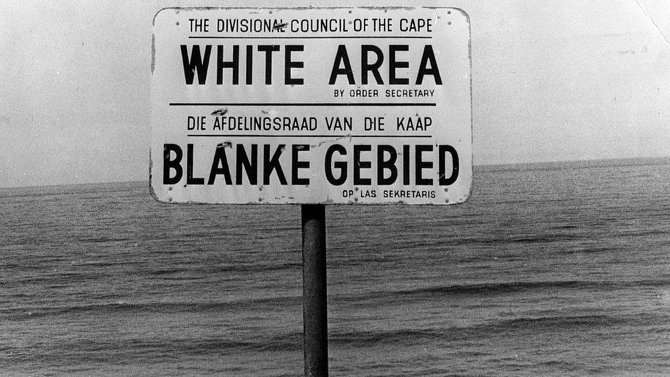 """Sign saying 'White Area"""""""