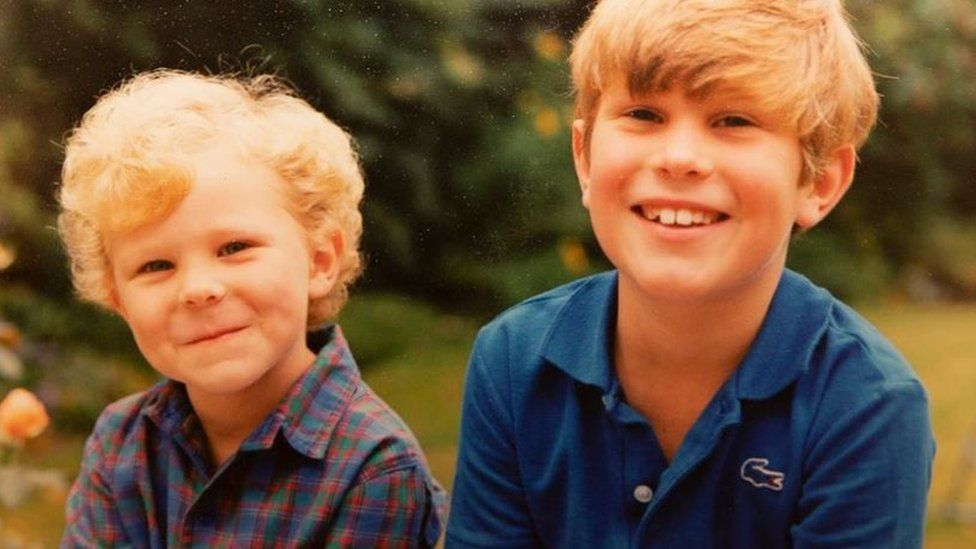 Jack Brooksbank and his brother Tom when they were children
