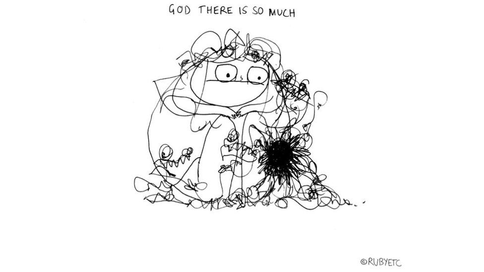 'God there is so much' relates to the knotted notion of feelings