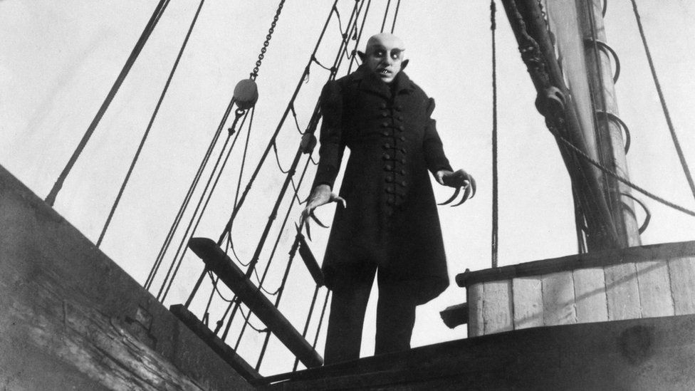 Max Schreck starring as Nosferatu in 1922 silent movie