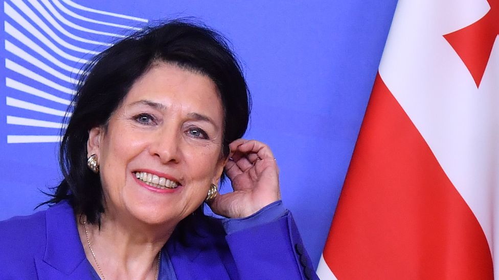Georgian President Salome Zourabichvili in Brussels, January 2019