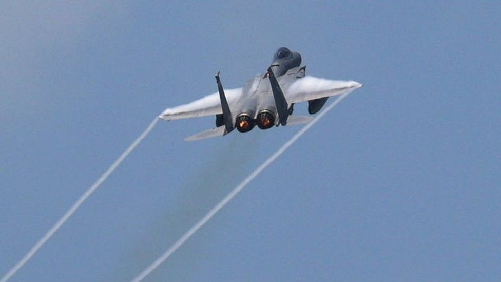 A US fighter jet in training, May 2021