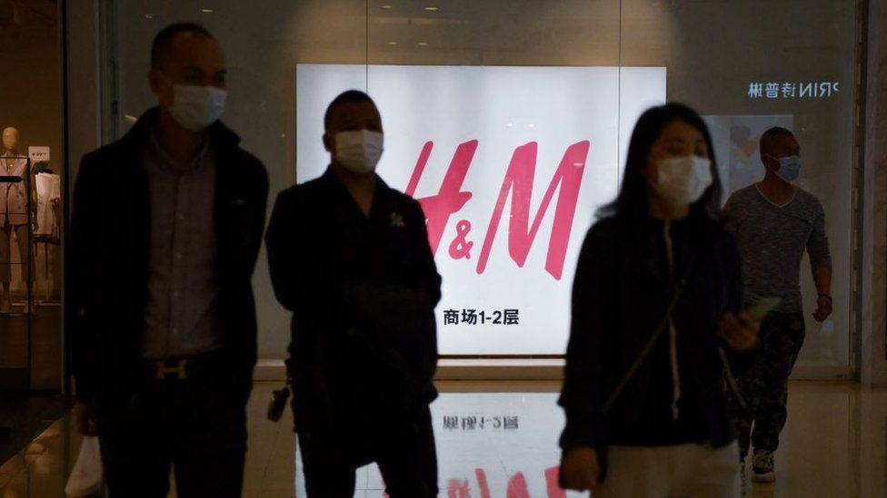H&M sign in China