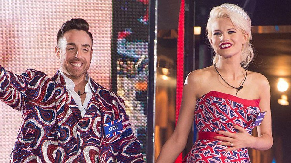 Stevi Ritchie and Chloe Jasmine entering the Celebrity Big Brother house in 2015