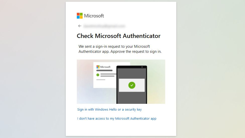 An example of the authenticator request dialog on a computer screen