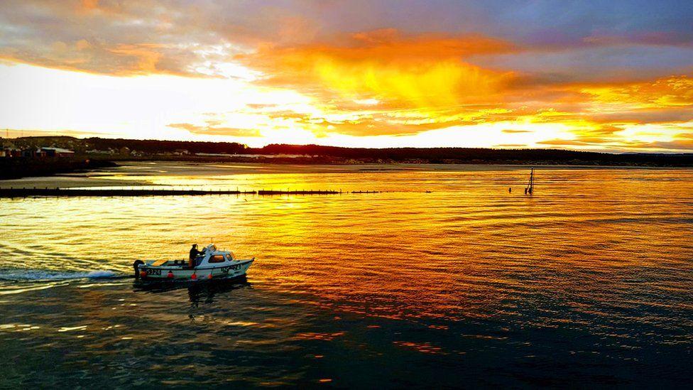 Sunrise at Burghead harbour