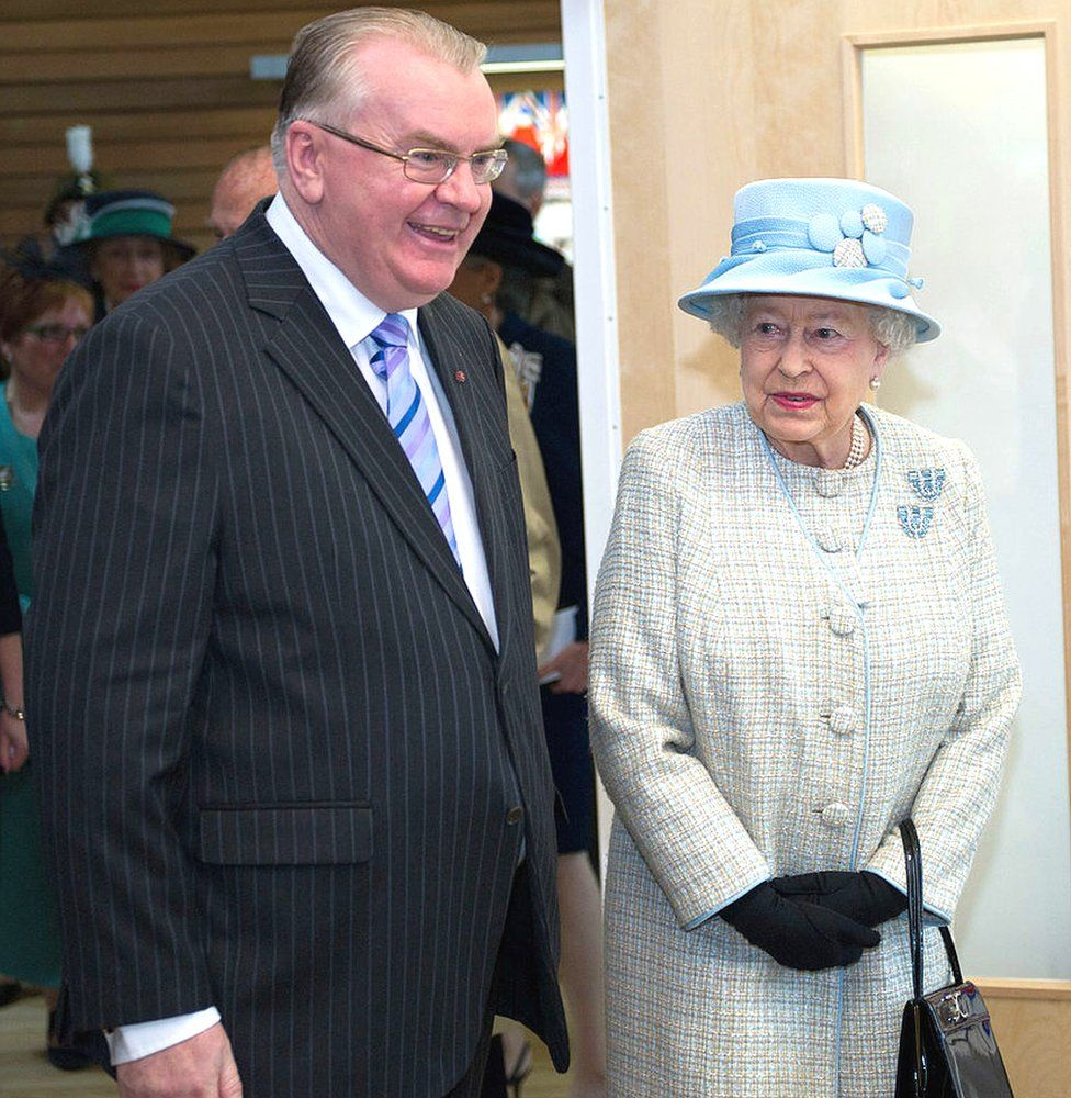Jeff Edwards accompanied the Queen during the royal couple's fourth visit to the village of Aberfan