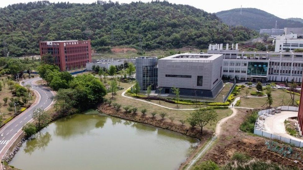 The P4 laboratory (centre) in Wuhan is among a handful of around the world cleared to handle Class 4 pathogens (P4) - dangerous viruses that pose a high risk of person-to-person transmission