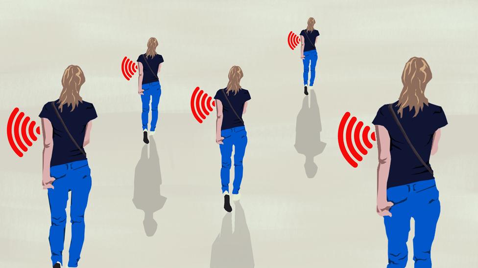 People emitting signals