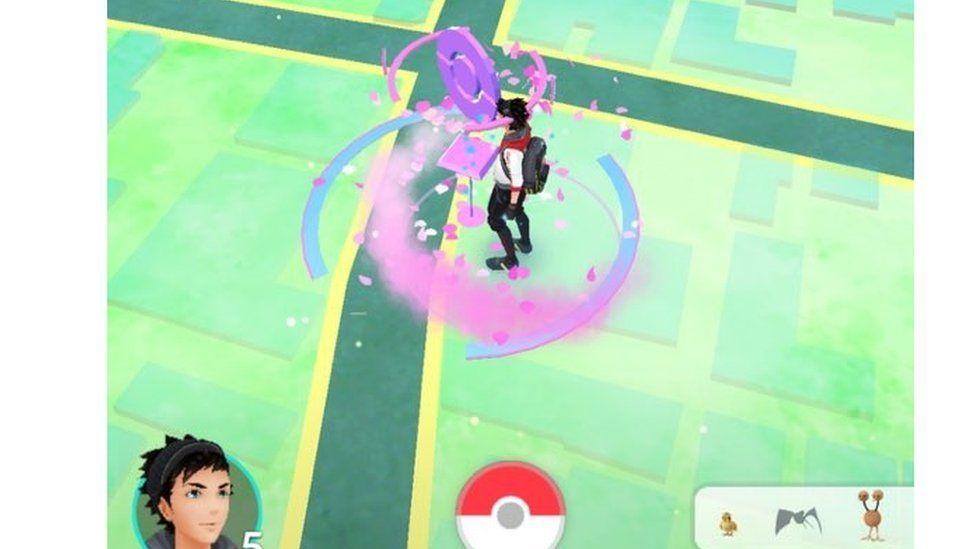 Photo of Pokemon Go screen from Samuel Lucas