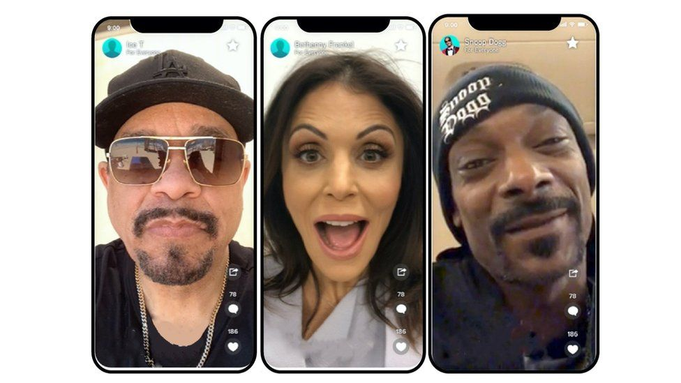 Celebrities on the Cameo app
