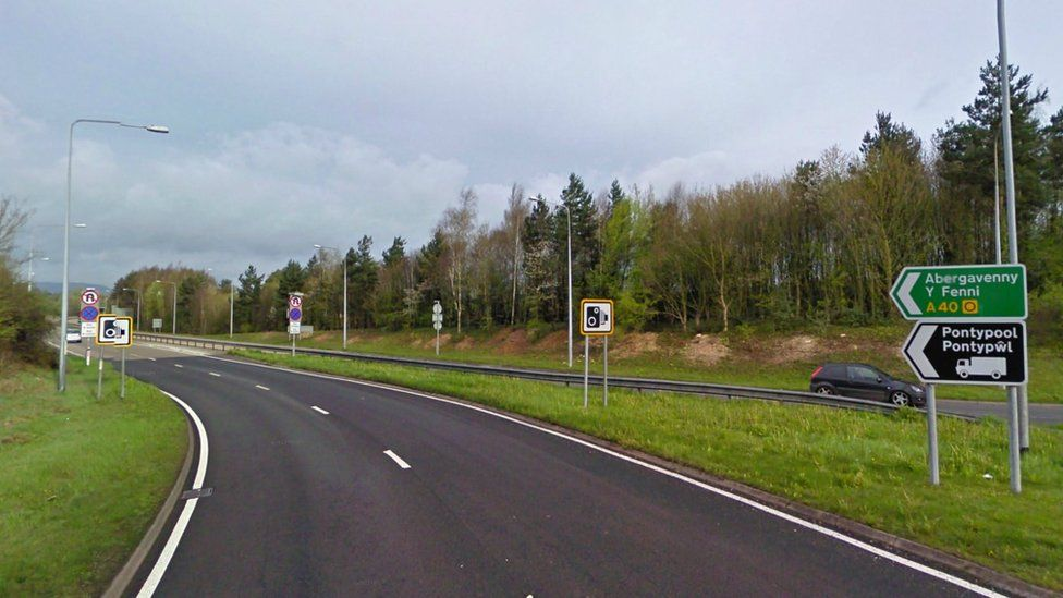A40 in Monmouthshire