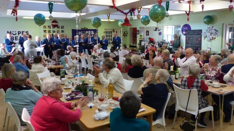 A Christmas lunch at Hopes and Beams for the residents