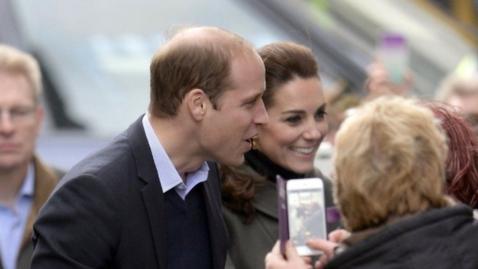 Prince William and Catherine meet the crowds