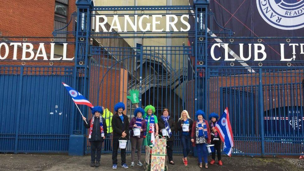 John Burkhill was invited to Rangers' Ibrox ground by supporters' group Club 1872