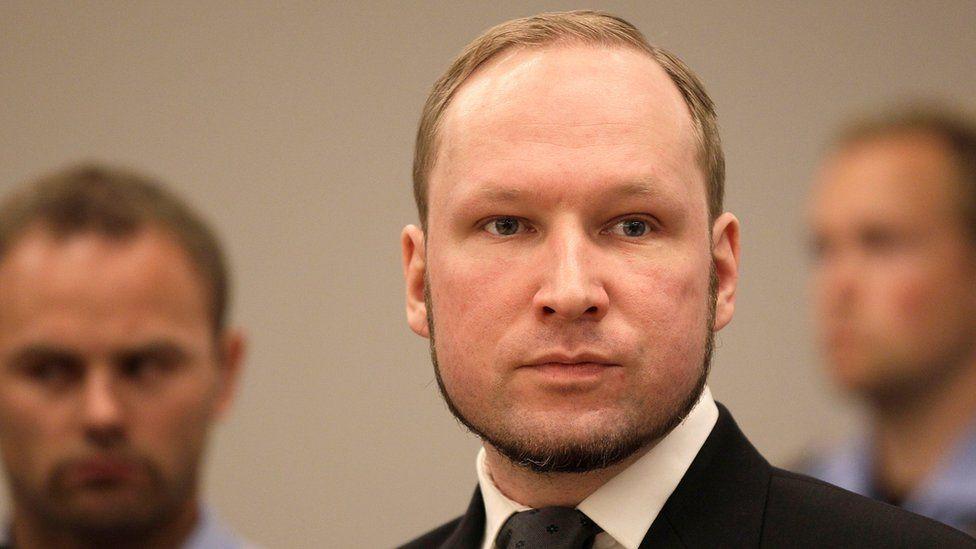 Anders Behring Breivik in court in Oslo, Norway