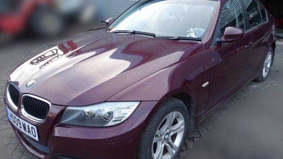 Sergei Skripal's red car
