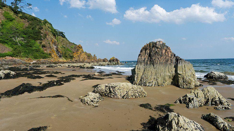 Beach north of Rosemarkie on the Black Isle.