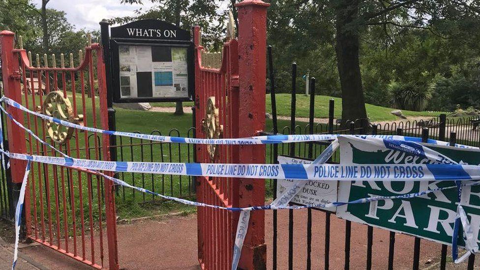 Roker Park taped off